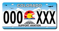 """Get Your Colorado """"Support Aviation"""" License Plate"""