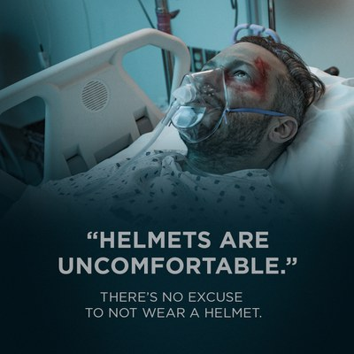 Helmets are Uncomfortable. There is no excuse to not wear a helmet.